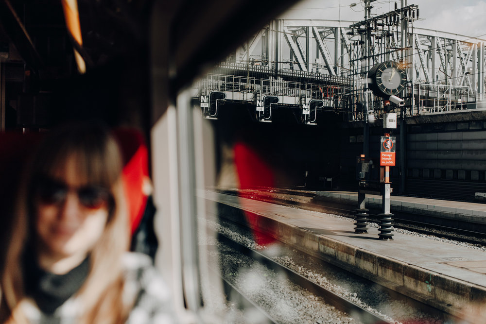 Window shot of Thalys in Paris, France