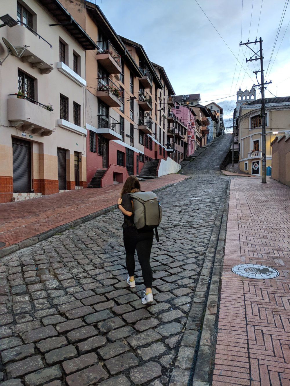 Waking up in Quito.