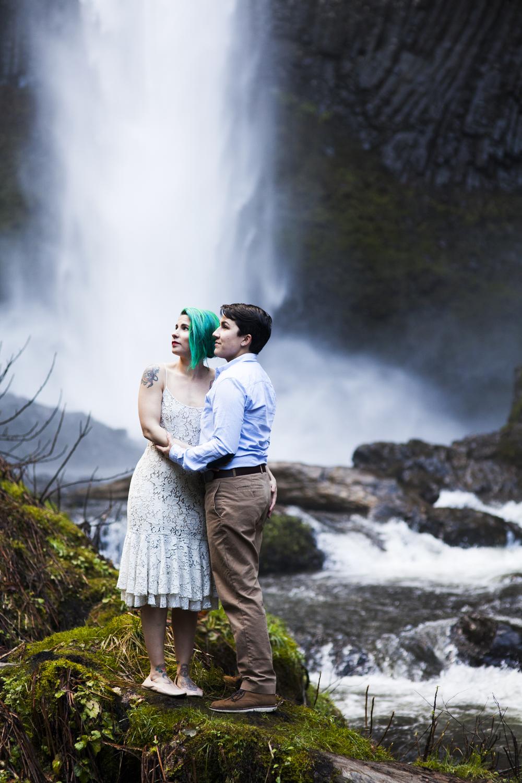 Latourell Falls Elopement