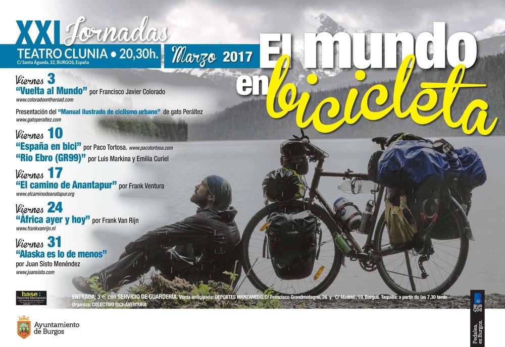 el mundo en bicicleta. XXI jornadas Burgos