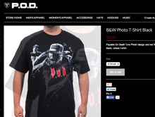 P.O.D. TSHIRT   Photo used for an official tshirt for the band P.O.D., Payable On Death.
