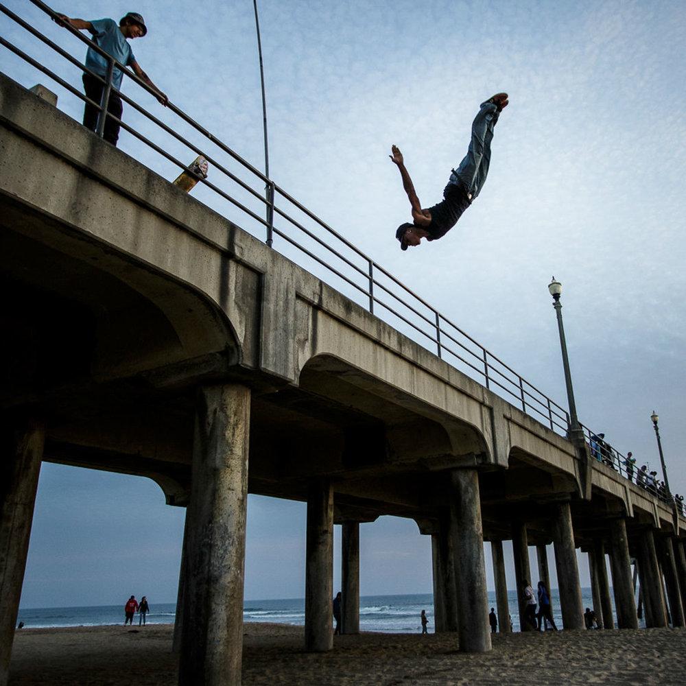 Huntington Beach pier jumper