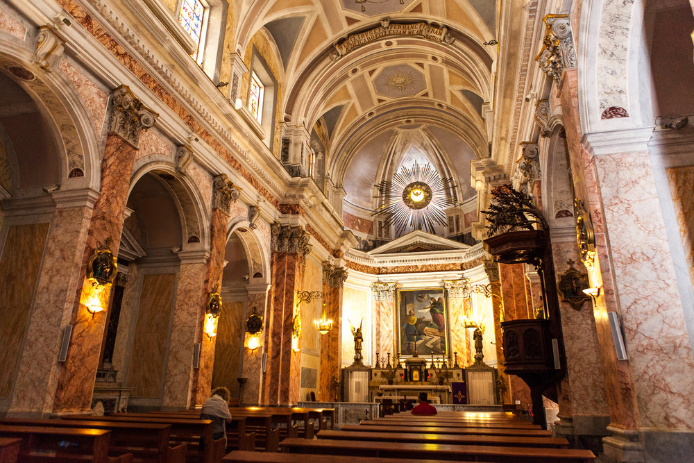 Inside St. Peter's Church