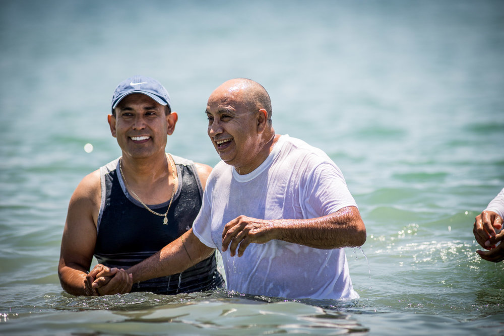 La Viña baptisms, at Corona Del Mar. 2018