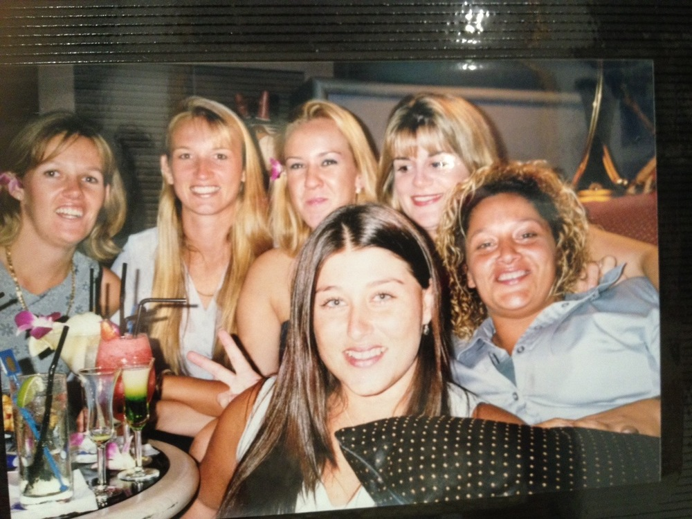 Heidi Rawson 2nd from left a wonderful Colt and beautiful supportive sister we are so sorry to you and the family for the tragic loss of our great mate Rawso. In tough time we stick together we are with you.