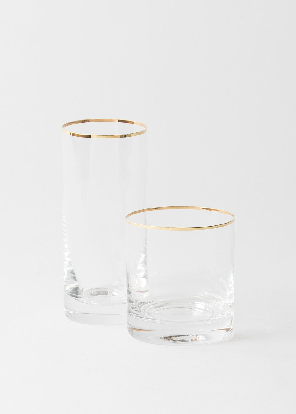 Awesome Chloe Gold Rimmed Barware