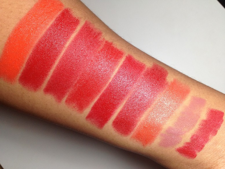 Milani Color Statement Lipstick Oranges & Reds Swatches (3)