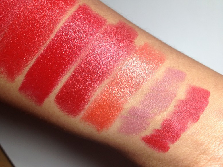 Milani Color Statement Lipstick Oranges & Reds Swatches (1)