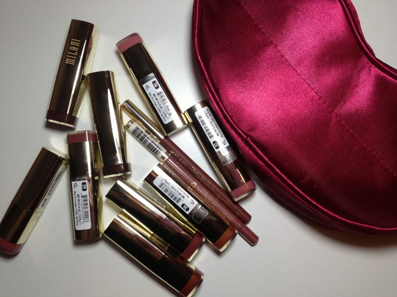 Milani Color Statement Lipstick and Lip liners Naturals & Browns Swatches (1)