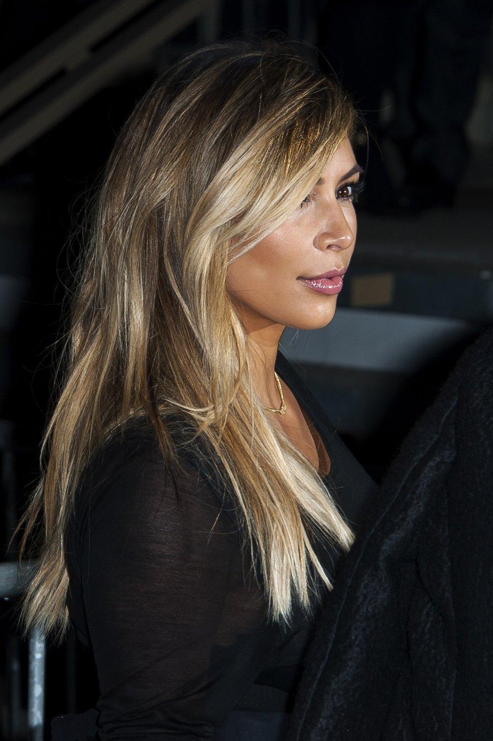 Kim Kardashian Givenchy Fashion Show in Paris France Lip Color