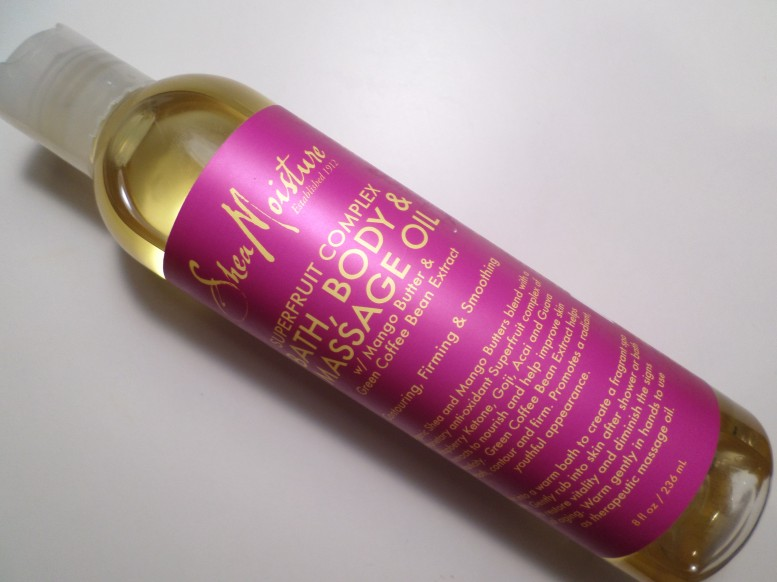 SheaMoisture Superfruit Complex Bath, Body & Massage Oil Pictures and Review