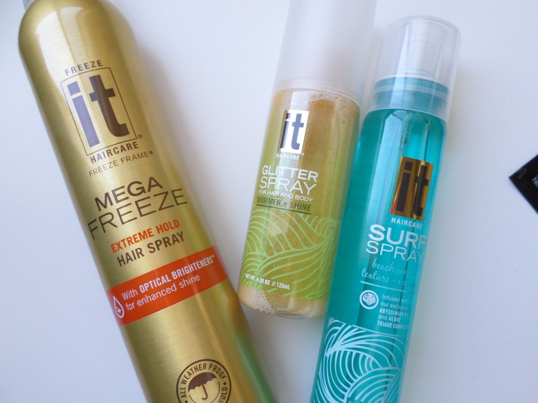 It Haircare Mega Freeze, Glitter Spray, Surf Spray