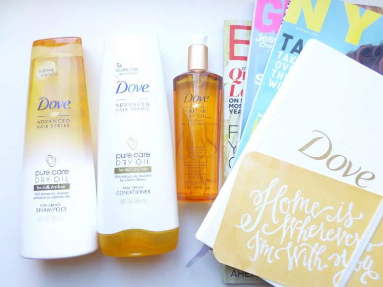Dove Pure Dry Oil Collection Review and giveaway