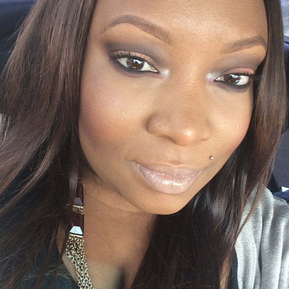 orange and brown eyeshadow on brown skin