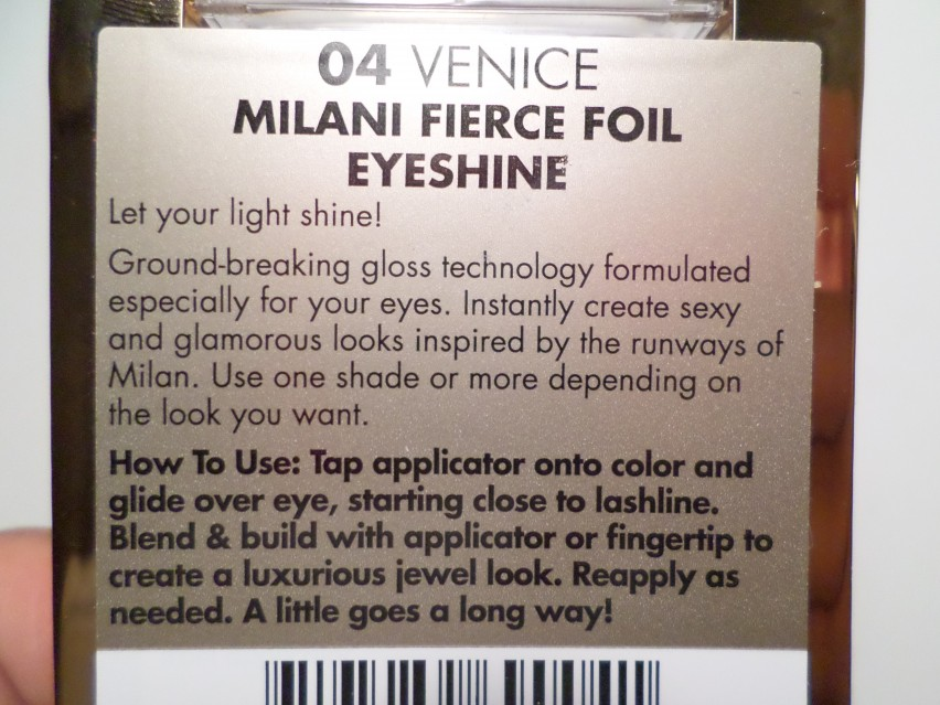 Milani Cosmetics Foil Eyeshadow Eyeshine in 04 Venice