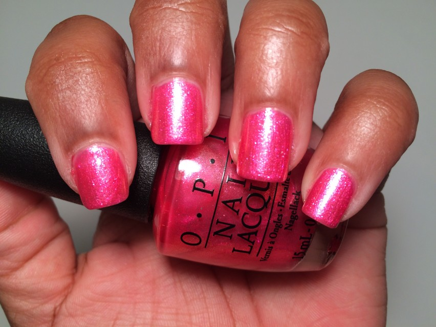 OPI I Can't Hear Myself Pink! - OPI Brights Collections 2015 (4)