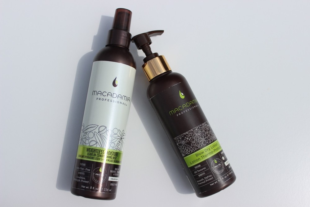Macadamia Professional Weightless Moisture Conditioning Mist and Blow Dry Lotion