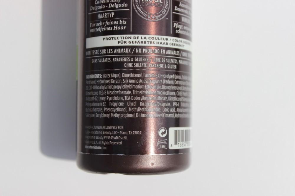 Macadamia Professional Weightless Moisture Conditioning Mist ingredients