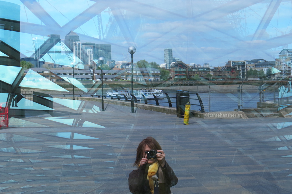 Heather Lea Gerdes Self Portrait at Cutty Sark in Greenwich, London