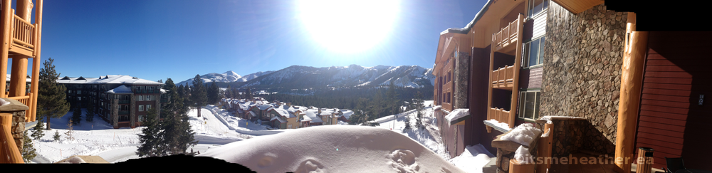 Juniper Springs Winter Panorama at Mammoth Lakes, CA