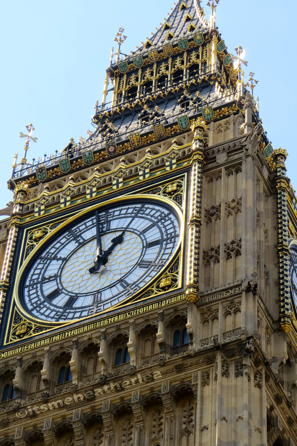 Big Ben at 1PM in Westminster London, England