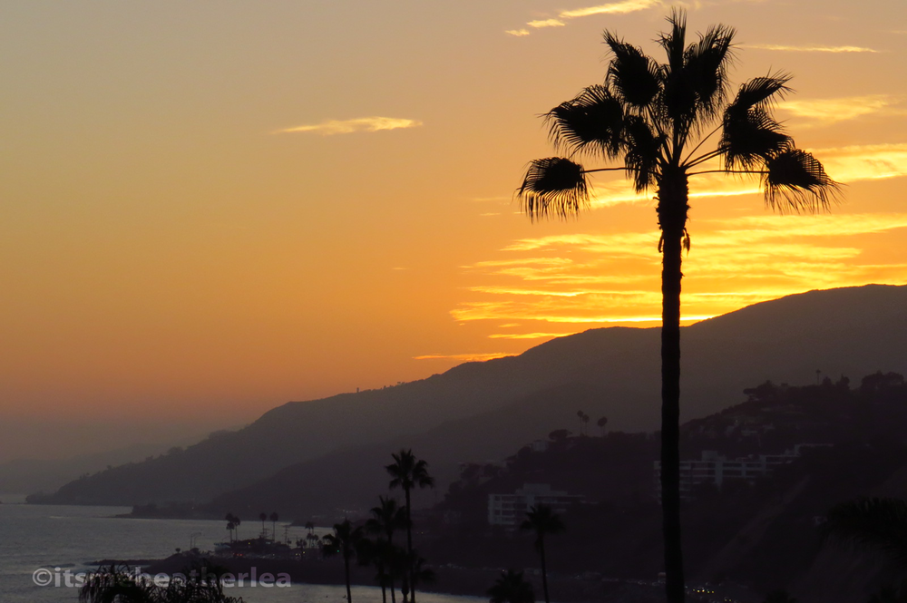 A Coastal Sunset in Pacific Palisades, CA
