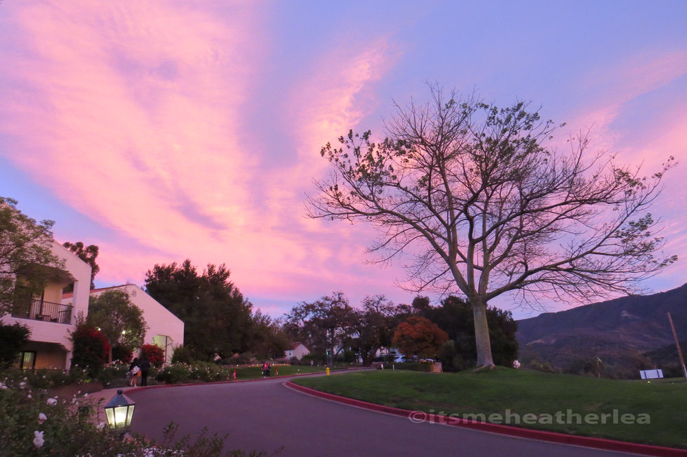 The Famous Pink Moment in Ojai, CA