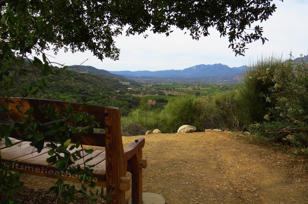 Meditation Mount's Quiet Bench in Ojai, CA
