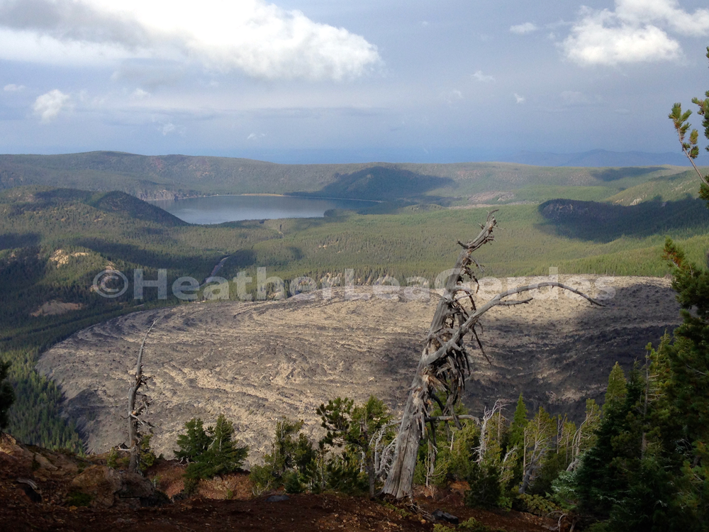 Newberry National Volcanic Monument Gallery  Celebrating 25 years in 2015, the Newberry National Volcanic Monument contains Paulina and East Lakes, The Big Obsidian Flow, Lava Butte cinder cone near Sunriver Resort, and the Lava River Cube.