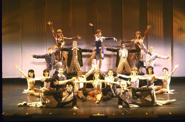 Bob Fosse's Dancin' London Cast. I'm in the middle in the attitude split.