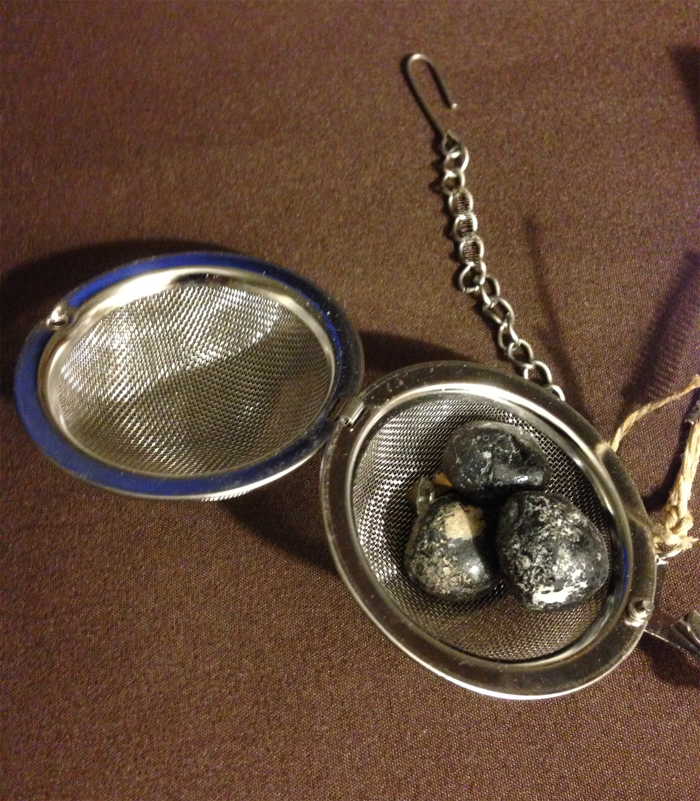 Crafty Things! Place a single Apache Tear or several inside a tea infuser. Hang by your bed for healing as you sleep.