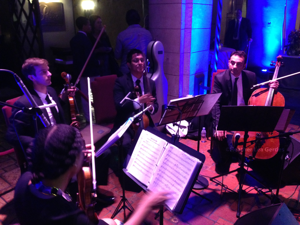 Lovely chamber group playing for Mozart in the Jungle's FYC reception @ The Hollywood Roosevelt Hotel