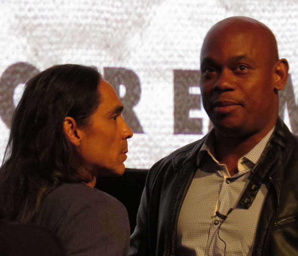 Zahn McClarnon and Bokeem Woodbine @  Fargo  FYC at Paramount Studios, Los Angeles