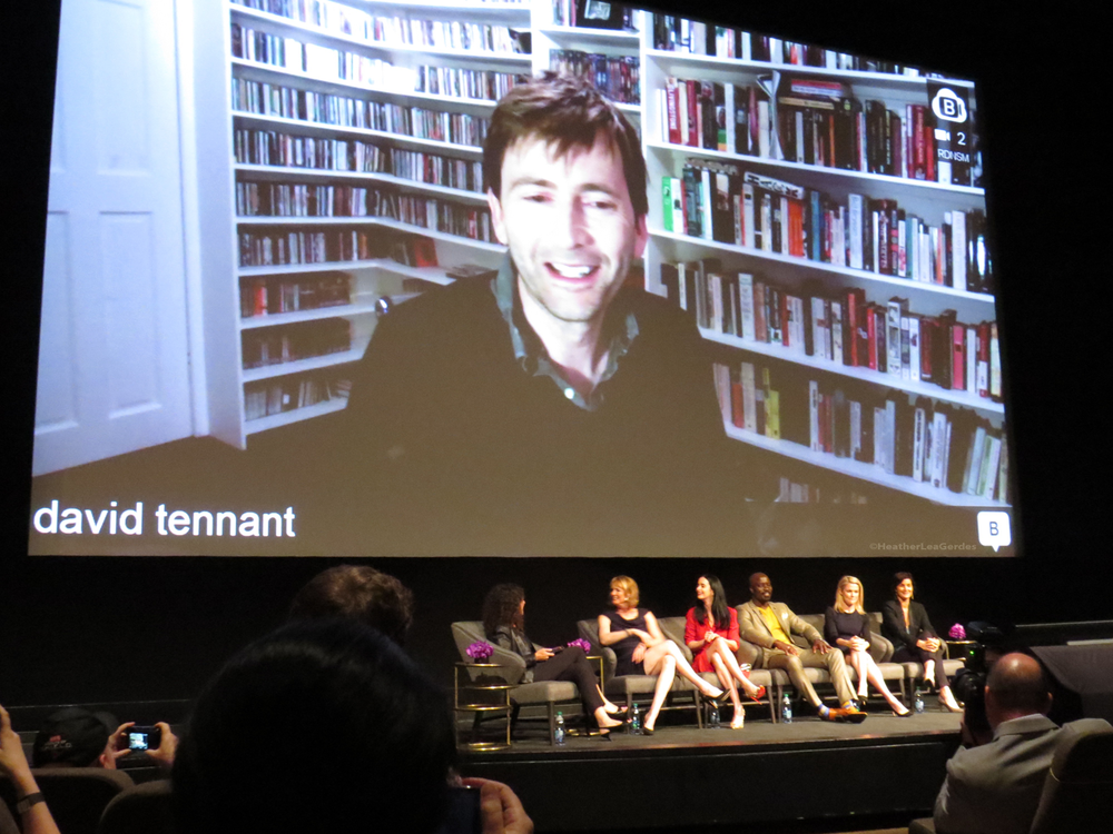David Tennant streaming live from London during the Jessica Jones FYC in Los Angeles, CA