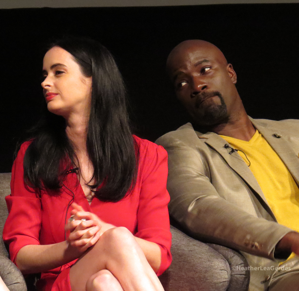 Krysten Ritter and Mike Colter and the Jessica Jones FYC in Los Angeles, CA
