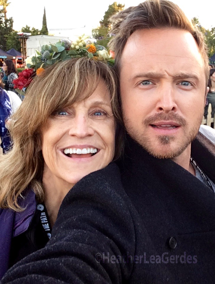Heather Lea Gerdes and Aaron Paul at  The Path  FYC, Hollywood Forever Cemetery, Los Angeles, CA