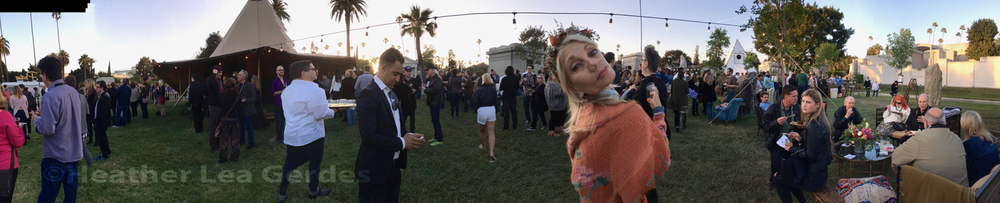 The Path  FYC @ Hollywood Forever Cemetery. My friend, actress Cheryl Bricker stands out in orange!