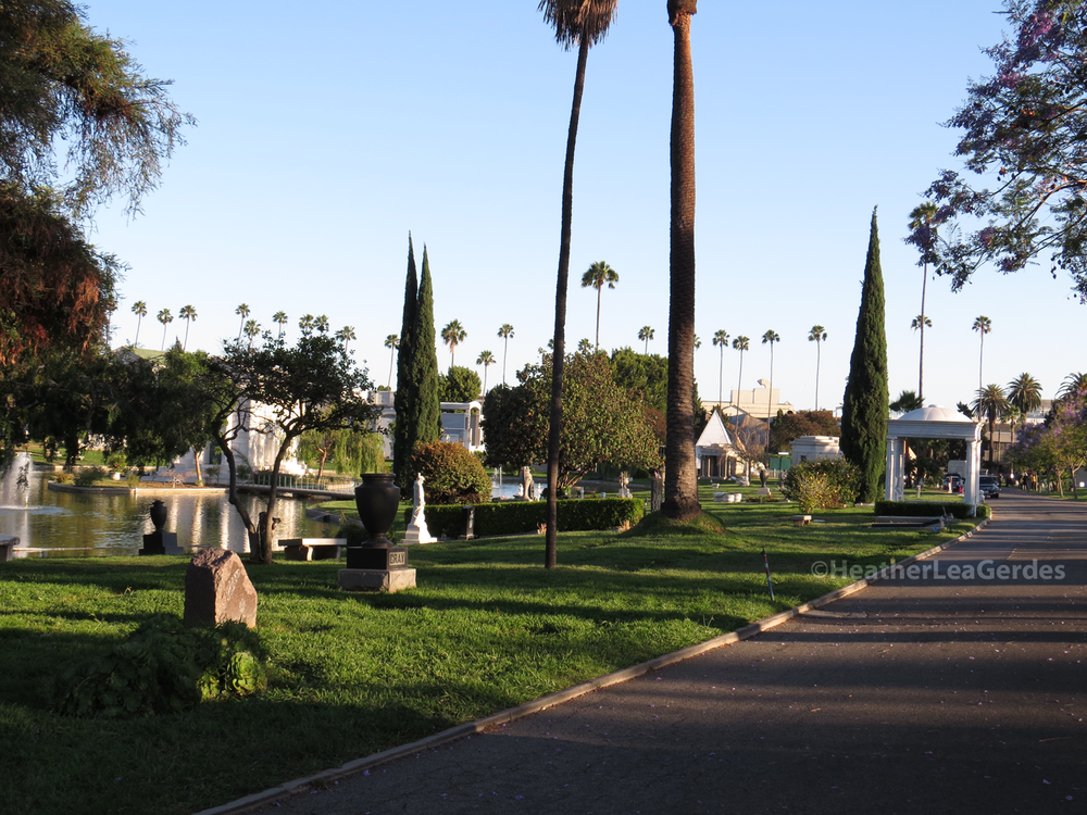 The path to  The Path  @ Hollywood Forever Cemetery in Los Angeles, CA