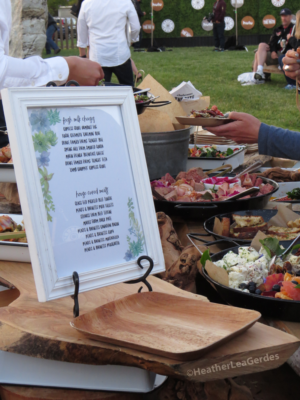 Simple and tasty fare at  The Path's  Emmy FYC @ Hollywood Forever Cemetery.