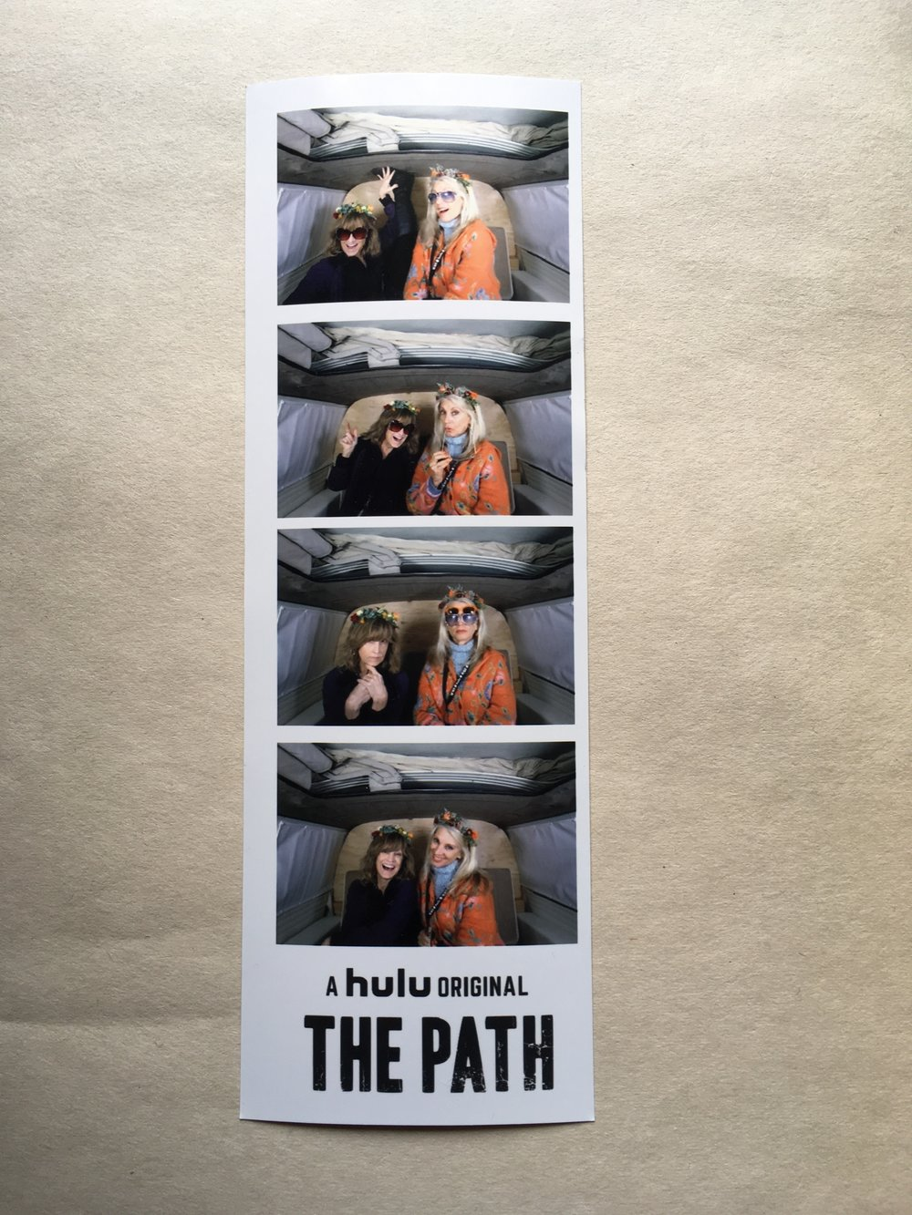 Wacky fun in the VW photo booth with Heather Lea Gerdes and Cheryl Bricker @  The Path's  FYC at Hollywood Forever Cemetery in Los Angeles, CA