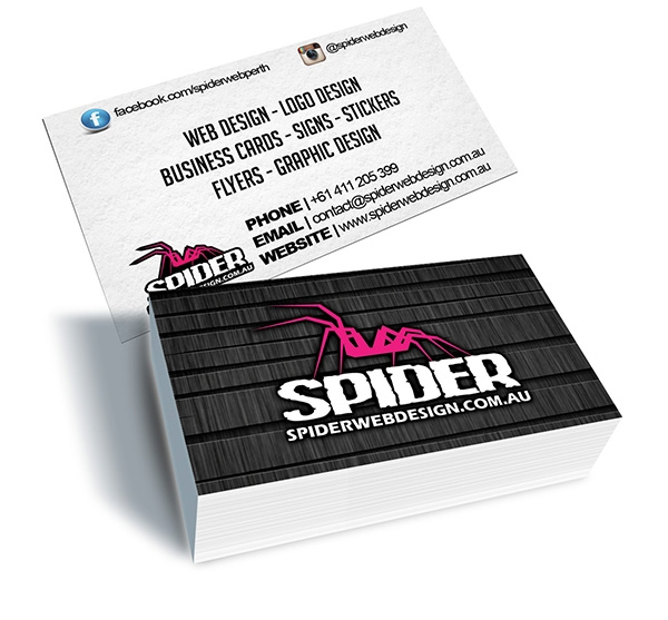 Spider Web Design - Business Cards