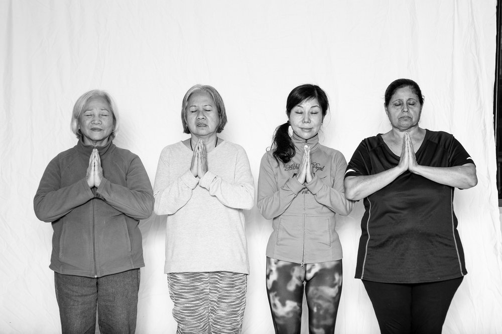 St Vincent de Paul Society yoga participants