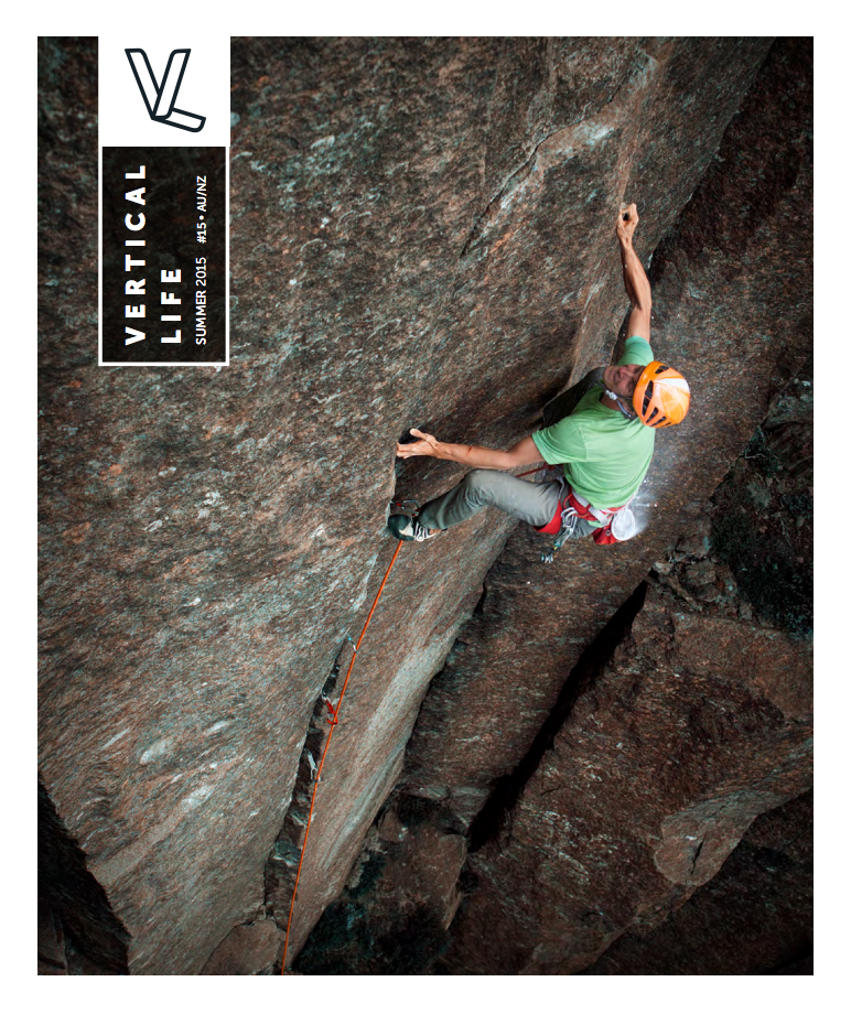 Jorg Verhoeven climbing 'The Wizard' at Ben Lomond