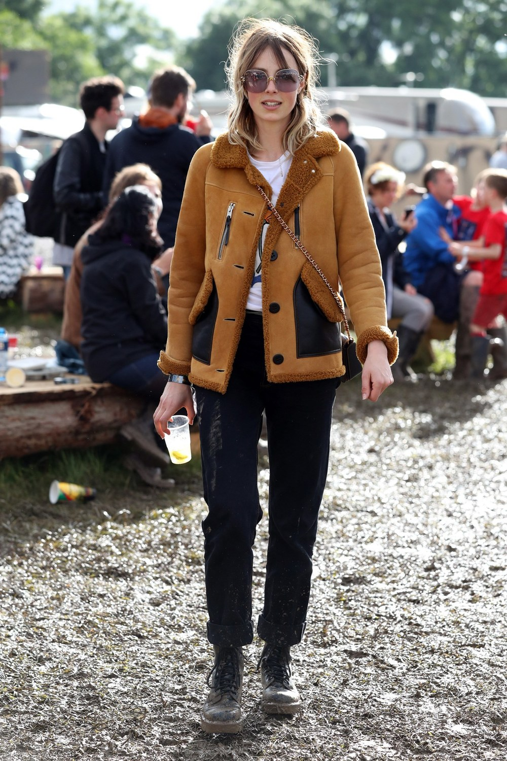 Edie Campbell wearing a SICK Coach coat, a dreamy pair of sunnies, and those black trousers? I'm dead