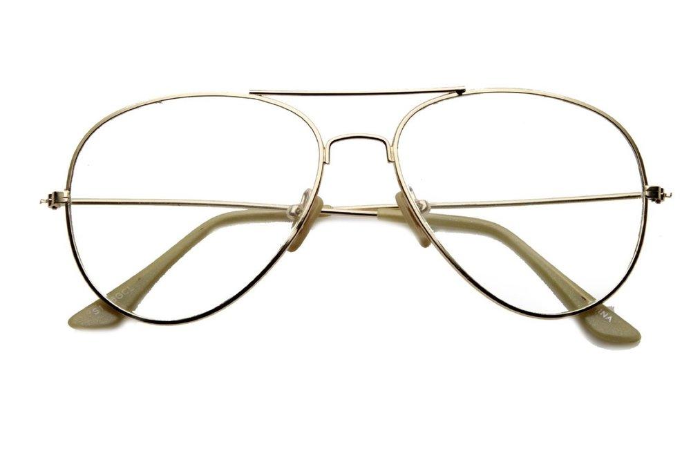 Retro Metal Aviator Sunglasses - ZeroUV
