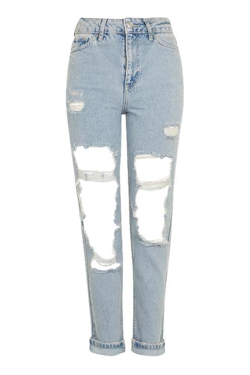I'm really into distressed denim lately. theres been a continuing trend on taking things back to the 90's, and were currently in our MTV Sk8r-boi phase. nothing like a good distressed jean to get you the look!