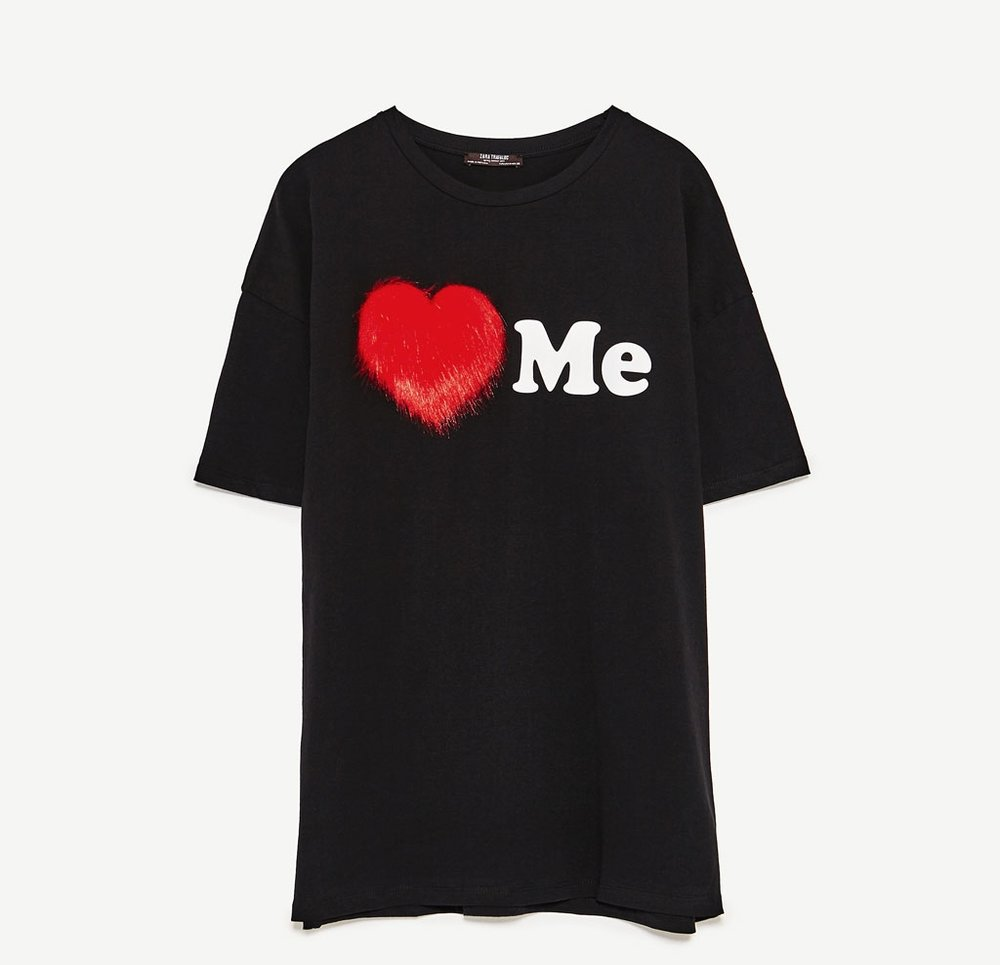This Zara Trafaluc Graphic Tee is AMAZING and comes in at $19.90. There's nothing better than letting everyone know who's boss. The heart is faux fur so washing may be a lil weird but totally worth it.
