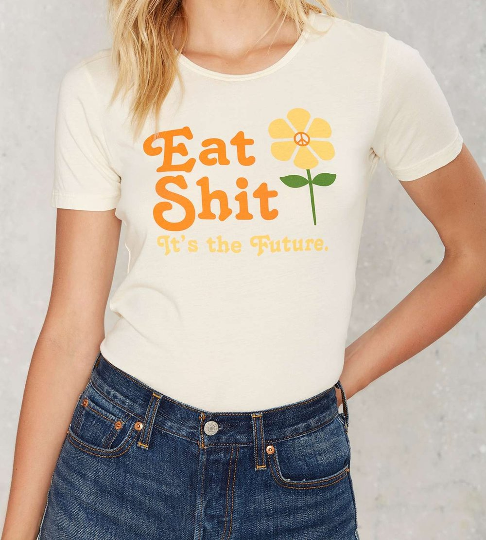 This Sugarhigh Lovestoned tee for Nasty Gal is a bit more pricey coming in at $88, but whats a little 'eat shit!' to get a conversation going?