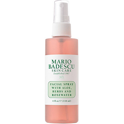 Mario Badescu Rosewater Spray Literally everyone and their mother talks about this stuff, and I mean, I obviously now know why. Mario Badescu has always given me great results in terms of skin care, so when I saw this in a beauty store the other day, I decided to test this spray out. Now at $7 I feel like it's perfect for anyone who's looking to try a new skin-care item. This spray is perfect for anyone who gets red really quickly or has uneven skin. I'm not even really sure how this spray works its magic but what I do know is that whenever i don't wear makeup, I always make sure to spray my face before heading out. The spray always leave my skin looking super even, healthy, and glowy (in a none oily way of course.)