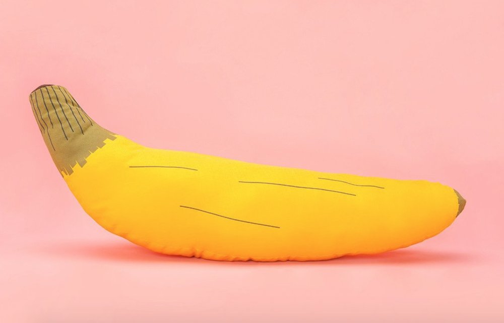 Bando Banana Pillow.  I don't know if I would actually buy this pillow, but then again I love bananas and the color yellow so..